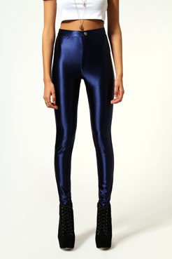 Mae Thick High Shine Button Front Disco Pants at boohoo.com