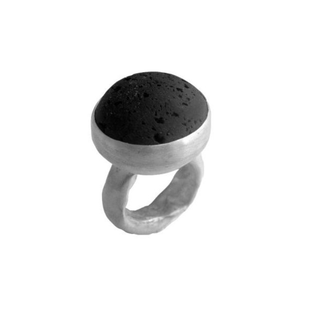 jewels gemstone ring statement ring black black lava large ring
