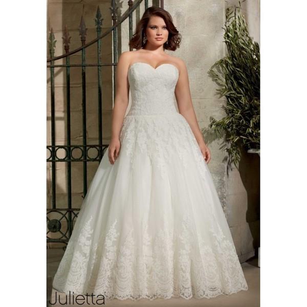 Julietta by Mori Lee 3178 Strapless Drop Waist Ball Gown Plus Size ...