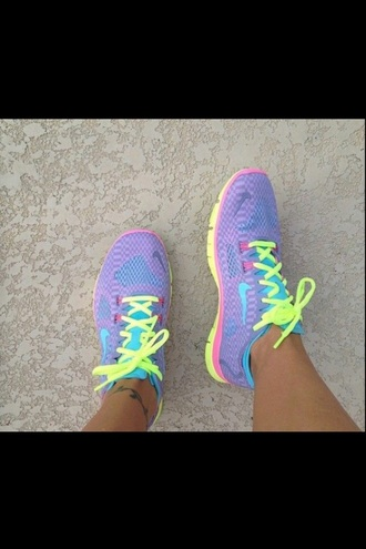 shoes nike trainers purple shoes blue shoes yellow shoes running shoes