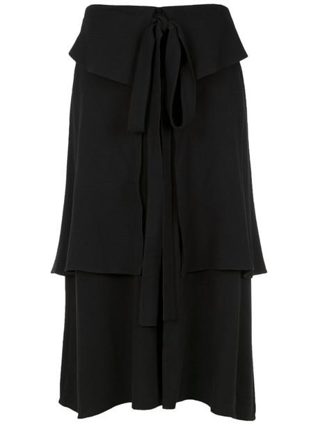 Olympiah - panelled midi skirt - women - Viscose - 42, Black, Viscose