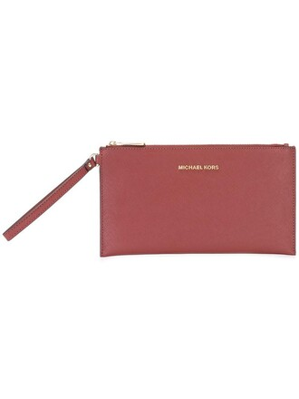 zip women clutch red bag