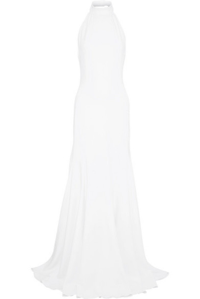 Stella McCartney - Crepe Halterneck Gown - White