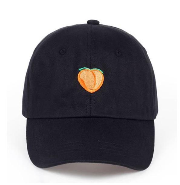 hat black cap peach