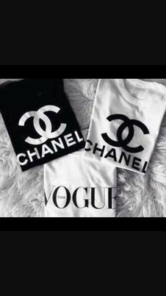 t-shirt blouse shirt chanel t-shirt vogue