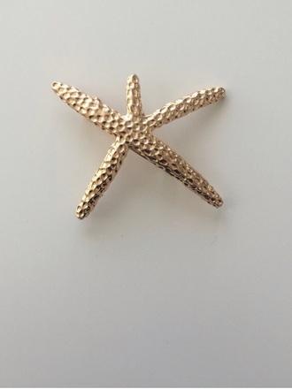 hair accessory starfish head jewels hair clip
