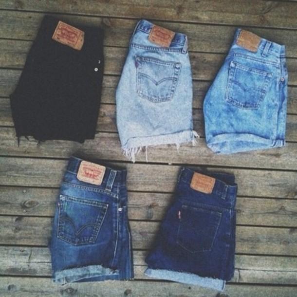 shorts hight rise denim jeans denim jacket High waisted shorts blue blue jeans pinterest pinterest outfit