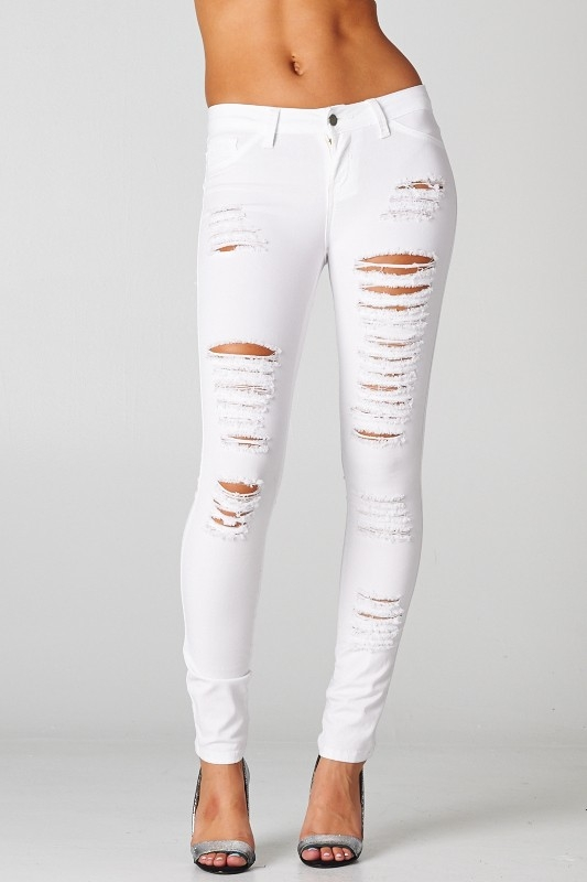 Shop for and buy white ripped jeans online at Macy's. Find white ripped jeans at Macy's.
