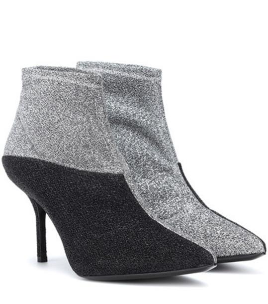 Pierre Hardy Kelly sock boots in silver