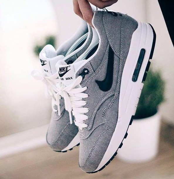 sports shoes 8af5f 44400 ... shoes nike air max sneakers grey denim grey denim air max nike shoes  grey sneakers denim ...