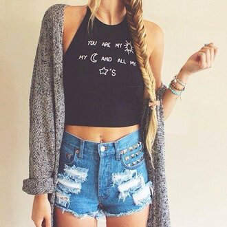 top moon sun sunshine stars galaxy black crop tops cropped brand grunge hipster vintage boho bohemian internet.tumblr internet tumblr t-shirt tees shirt summer dress summer outfits vogue chanel you are my sunshine brandy melville