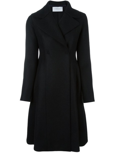 coat long women black wool