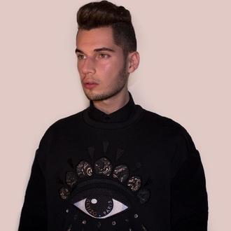 sweater menswear illuminati eye jumper mens sweater kenzo