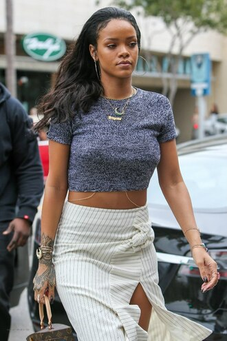 top grey grey top rihanna outfit perfect