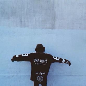 sweater traplord black trap jumper black and white 888boyz unisex menswear urban menswear