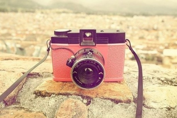 Jewels: camera, pink, cool, vintage, tumblr, weheartit, pretty ...