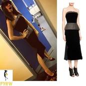 dress,claudia winkleman,black strapless dress,strictly