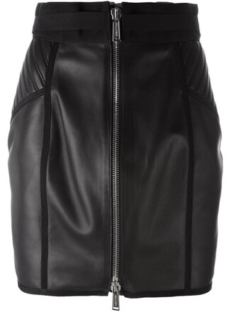 skirt zipped skirt black