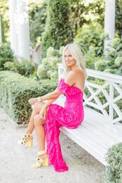mckenna bleu - mckenna bleueu,blogger,dress,shoes,bag,pink dress,sandals,yellow shoes,spring outfits