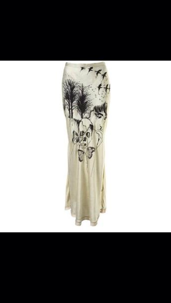skirt maxi skirt grunge streetwear