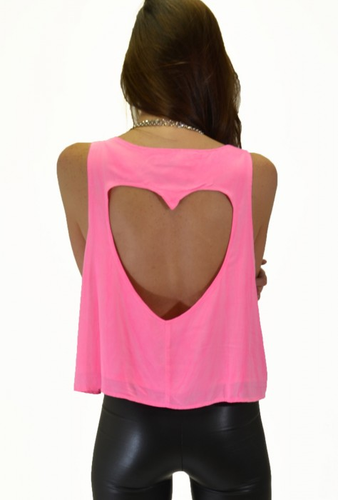 Cut Out Heart Top - Pink - HOME-PAGE-PRODUCTS