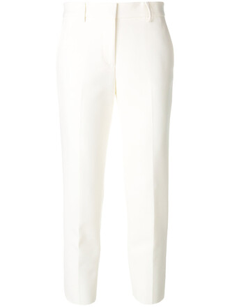 cropped women spandex white pants