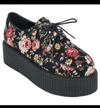 shoes creepers floral floral creepers