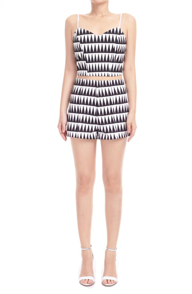 Geometric Print Shorts – L O É I L
