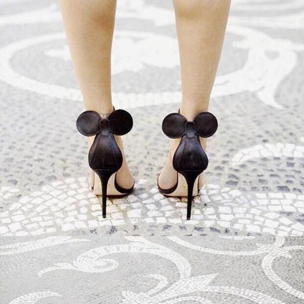 shoes disney mickey mouse black heels mickey mouse. Black Bedroom Furniture Sets. Home Design Ideas