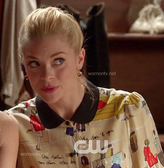 blouse jaime king lemon breeland tv style hart of dixie tv show tv fashion as seen on tv celebrity style hart cw the cw cwlebrity kate spade