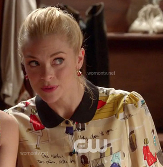 tv show celebrity style tv fashion blouse jaime king lemon breeland tv style hart of dixie we wore what what she wore as seen on tv rachel bilson hart cw the cw cwlebrity kate spade
