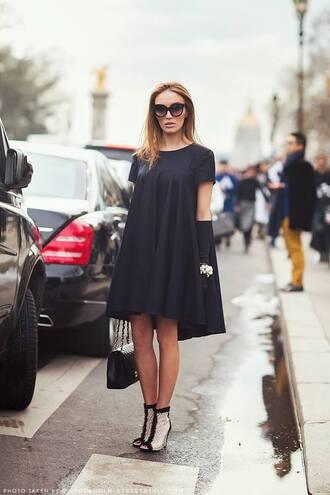dress chanel black little black dress trapeze