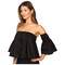 Gabriela cadena strapless cotton top with ruffled sleeves