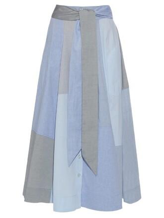 skirt patchwork cotton blue