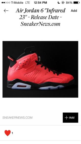 shoes air jordan retro 6s infrared 6s infrared sneakers jordans