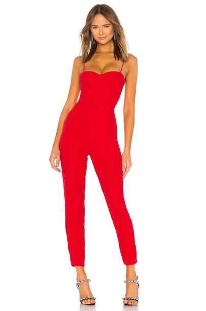 jumpsuit red