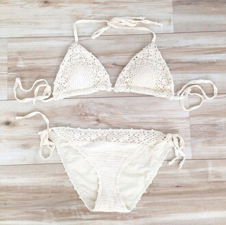 swimwear white crotchet bikini swimwear swimsuits lace lace white swimwear lace swimsuit crochet white bikini crochet bikini