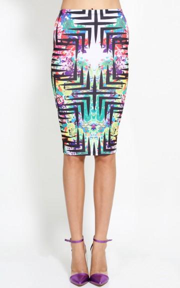 Jungle Fame Midi Skirt | MakeMeChic.com