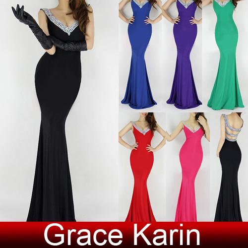 Livraison gratuite grâce. karin nouvelle mode 2014 sexy. deep v  cou, sirène, gaine backless robe de bal robe dans  de  sur Aliexpress.com