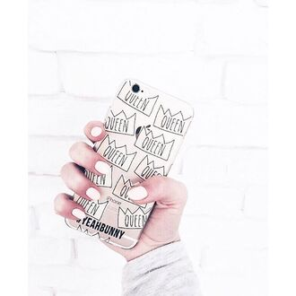 phone cover yeah bunny cute queen transparent nails pastel iphone cover iphone case iphone