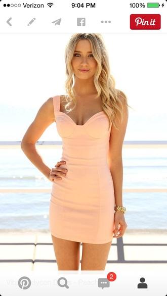 dress peach dress belt