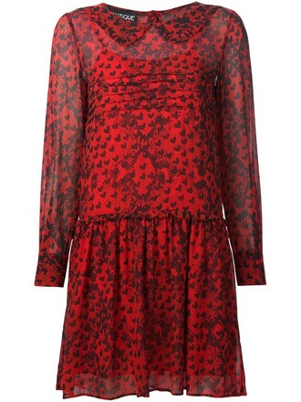 dress skater dress heart skater print red