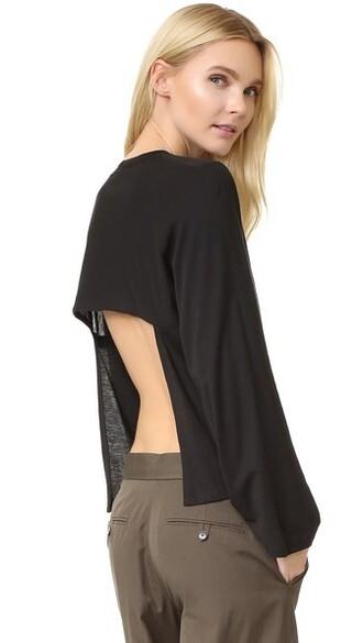back long open open back black top