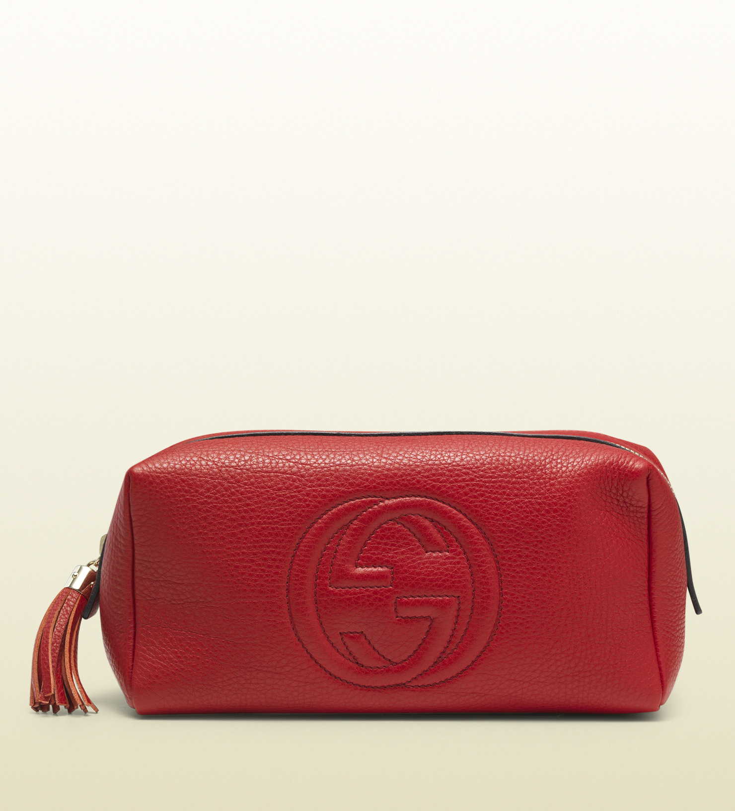 Gucci - soho large red leather cosmetic bag  308637A7M0G6523