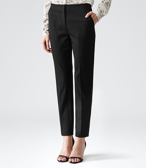Paris Black Slim Leg Trousers - REISS