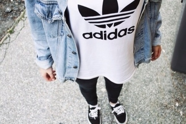 t-shirt adidas white swag
