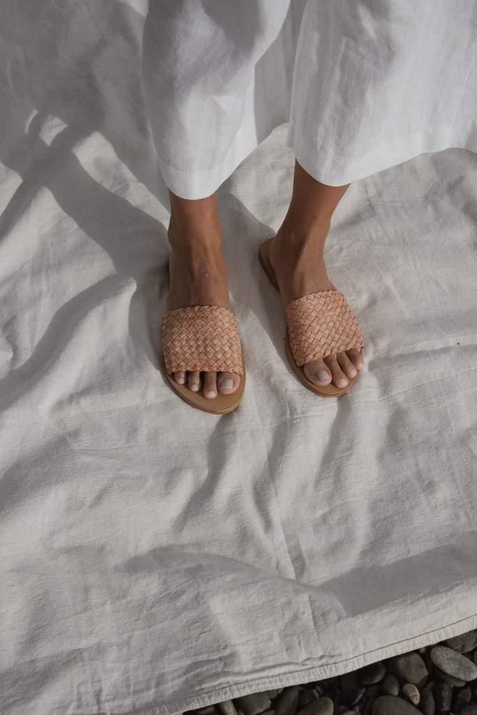 Dori Woven Slide - Nude