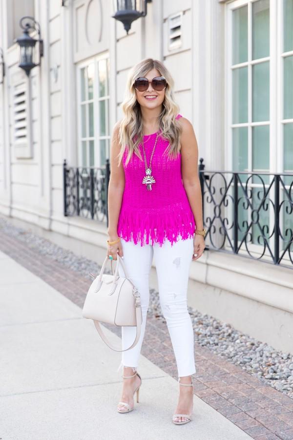 suburban faux-pas blogger sunglasses blouse jewels jeans bag shoes