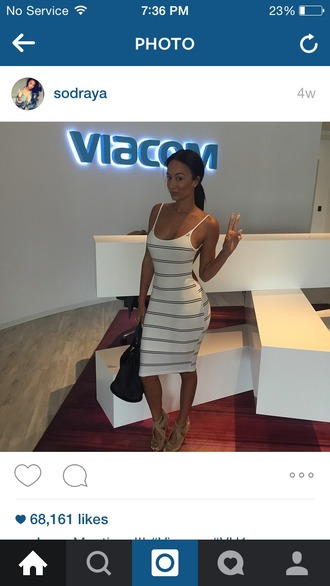 dress draya michele bodycon dress striped dress sexy dress backless dress