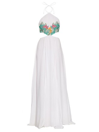 dress embroidered green